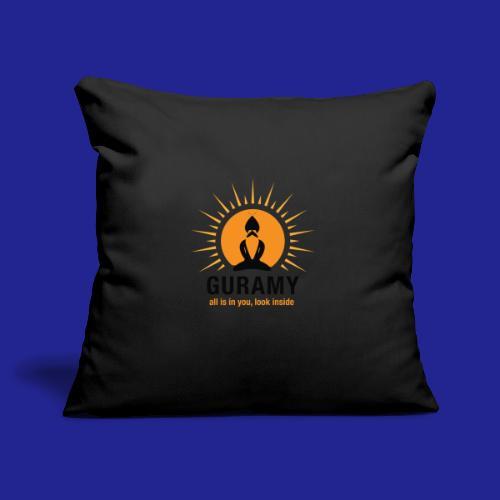 final nero con scritta - Sofa pillowcase 17,3'' x 17,3'' (45 x 45 cm)