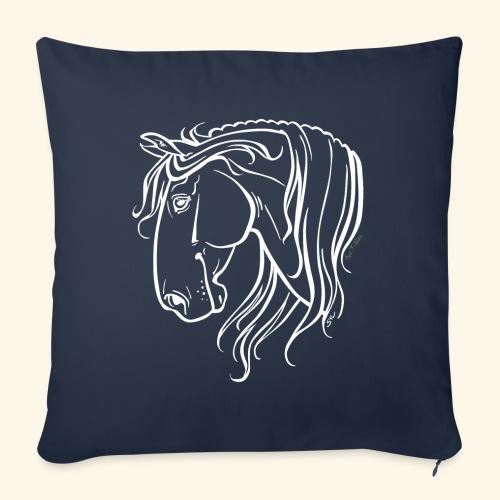Cheval espagnol (blanc) - Housse de coussin décorative 45x 45cm