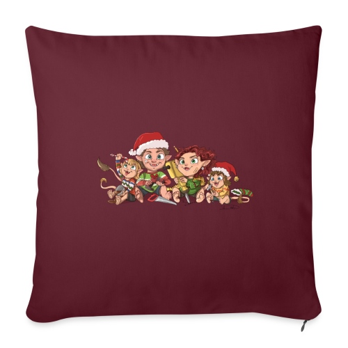 rickgoblinfamily xmas transparent - Sofa pillowcase 17,3'' x 17,3'' (45 x 45 cm)
