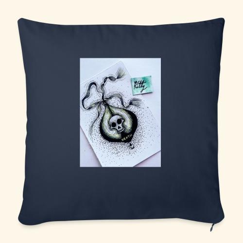 Poison design dark - Funda de cojín, 45 x 45 cm