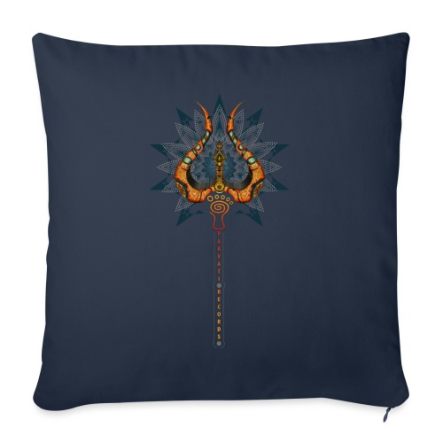 Parvati Records Trishula - Sofa pillowcase 17,3'' x 17,3'' (45 x 45 cm)