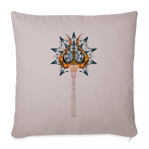 Parvati Records Trishula - Sofa pillowcase 17,3'' x 17,3'' (45 x 45 cm)