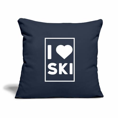 I love ski - Housse de coussin décorative 45x 45cm