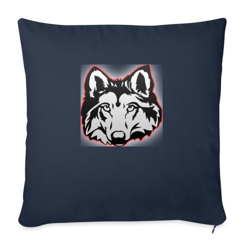 Wolfie (Red) - Sofa pillowcase 17,3'' x 17,3'' (45 x 45 cm)