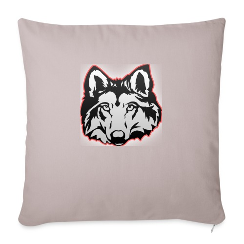Wolfie (Red) - Sofa pillowcase 17,3'' x 17,3'' (45 x 45 cm)