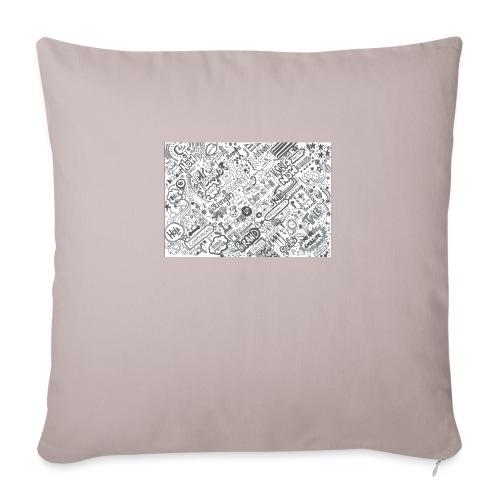 Doodle - Poszewka na poduszkę 45 x 45 cm