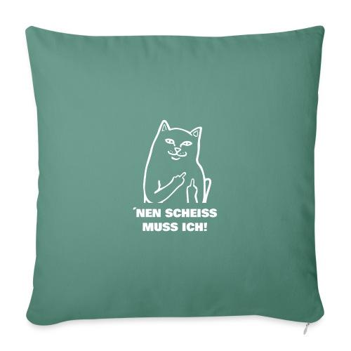 Nen Scheiss muss ich! Katze lustiger Spruch - Sofakissenbezug 44 x 44 cm