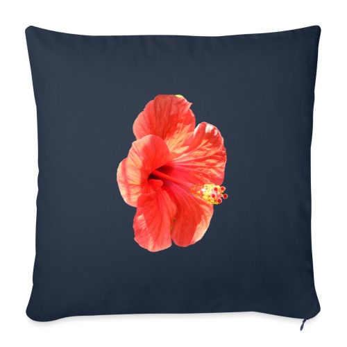 A red flower - Sofa pillowcase 17,3'' x 17,3'' (45 x 45 cm)
