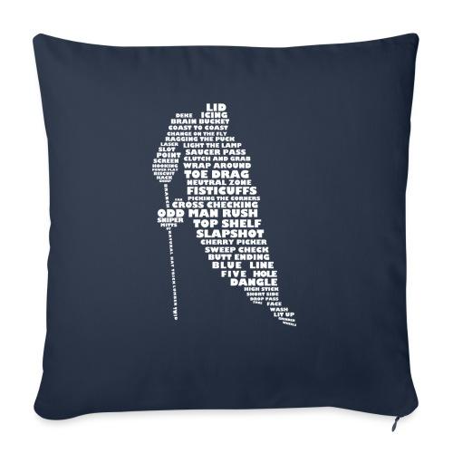Language of Hockey (White) - Sofa pillowcase 17,3'' x 17,3'' (45 x 45 cm)