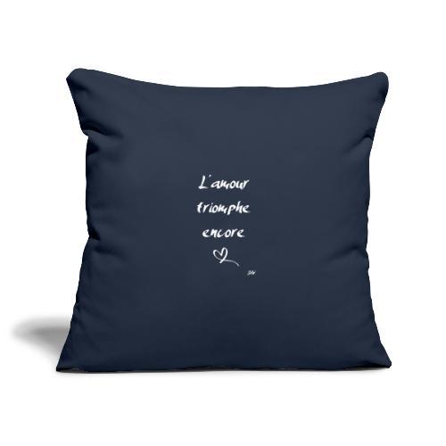 L'amour triomphe encore (blanc) - Housse de coussin décorative 45x 45cm