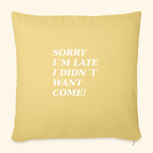 SORRY - Sofa pillowcase 17,3'' x 17,3'' (45 x 45 cm)