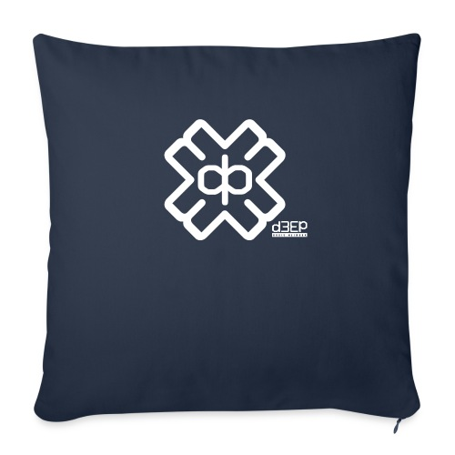 July D3EP Blue Tee - Sofa pillowcase 17,3'' x 17,3'' (45 x 45 cm)