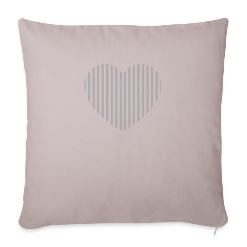 heart_striped.png - Sofa pillowcase 17,3'' x 17,3'' (45 x 45 cm)