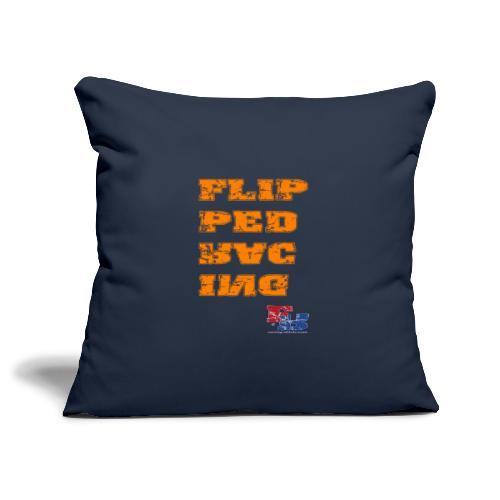 Flipped Racing, Orange - Sofa pillowcase 17,3'' x 17,3'' (45 x 45 cm)