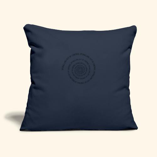 SPIRAL TEXT LOGO BLACK IMPRINT - Sofa pillowcase 17,3'' x 17,3'' (45 x 45 cm)