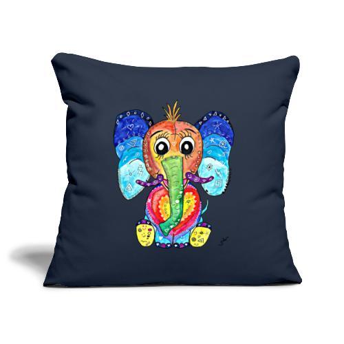 Happy Elephant - Sofakissenbezug 44 x 44 cm