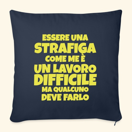 Frase Ironica - essere strafiga - FLAT - Copricuscino per divano, 45 x 45 cm