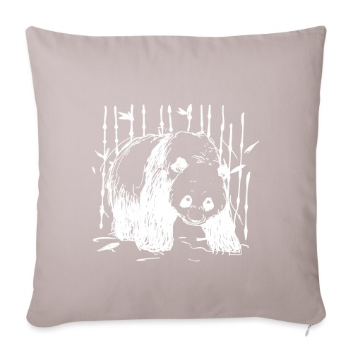 Forest walker WHITE - Sofa pillowcase 17,3'' x 17,3'' (45 x 45 cm)
