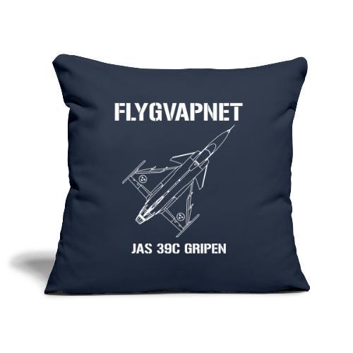 FLYGVAPNET - JAS 39C - Soffkuddsöverdrag, 45 x 45 cm
