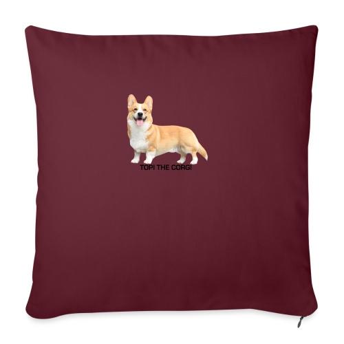 Topi the Corgi - Black text - Sofa pillowcase 17,3'' x 17,3'' (45 x 45 cm)
