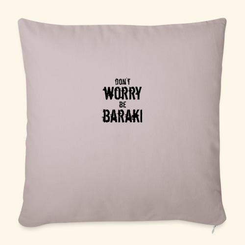 Be Baraki (Noir) - Housse de coussin décorative 45x 45cm