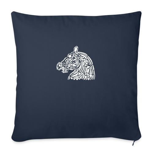 horse - cheval blanc - Housse de coussin décorative 45x 45cm