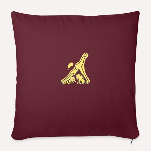 Yoga Pose Downward Facing Dog T-shirt Print - Sofa pillowcase 17,3'' x 17,3'' (45 x 45 cm)