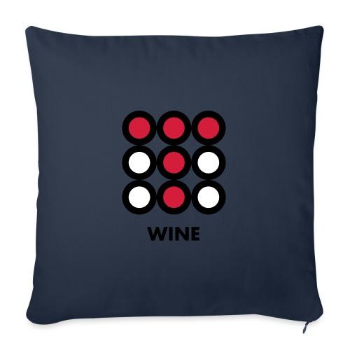 Wine. Vedi anche la versione Beer - Copricuscino per divano, 45 x 45 cm