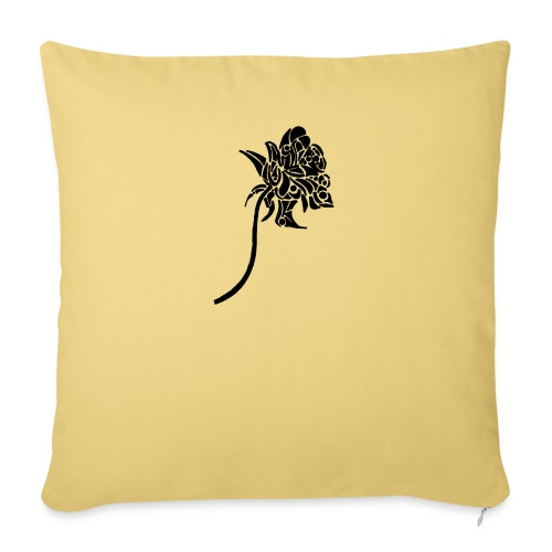 Rose tribal - Housse de coussin décorative 45x 45cm