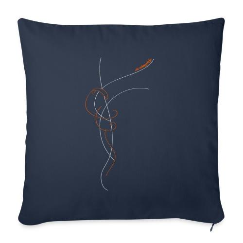 Libert'All In The Sky Orange - Housse de coussin décorative 45x 45cm