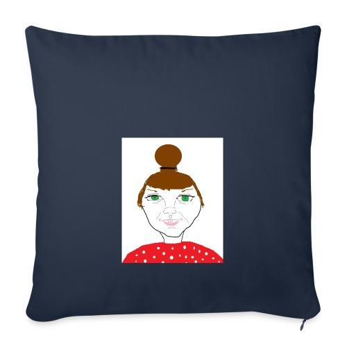 Bonny with a bun - Soffkuddsöverdrag, 45 x 45 cm