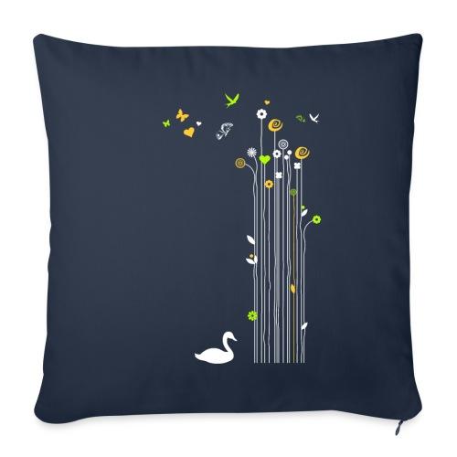 Frühling Schwan Blüten Schmetterlinge Valentinstag - Sofa pillowcase 17,3'' x 17,3'' (45 x 45 cm)