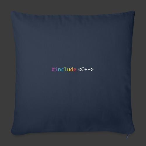 rainbow for dark background - Sofa pillowcase 17,3'' x 17,3'' (45 x 45 cm)