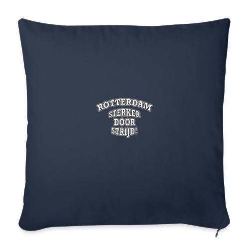 Rotterdam - Sterker Door Strijd! - Sierkussenhoes, 45 x 45 cm