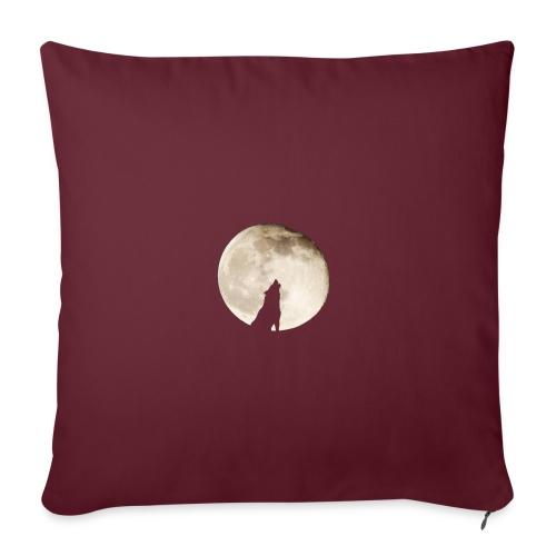 The wolf with the moon - Housse de coussin décorative 45x 45cm
