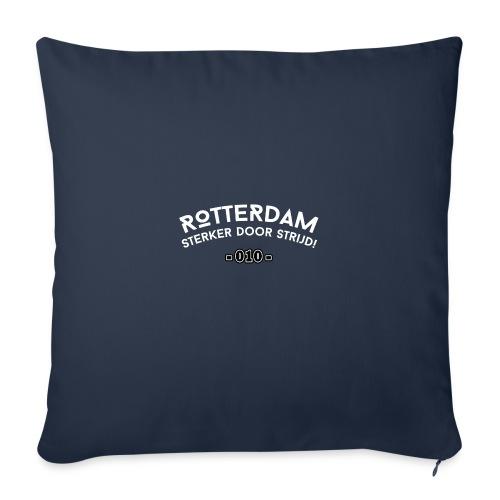 Rotterdam - sterker door strijd - Sierkussenhoes, 45 x 45 cm