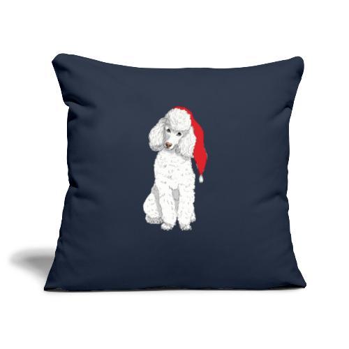 Poodle toy W - christmas - Pudebetræk 45 x 45 cm