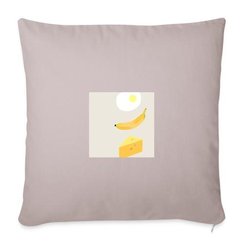 Egg Banana Cheese - Sofa pillowcase 17,3'' x 17,3'' (45 x 45 cm)
