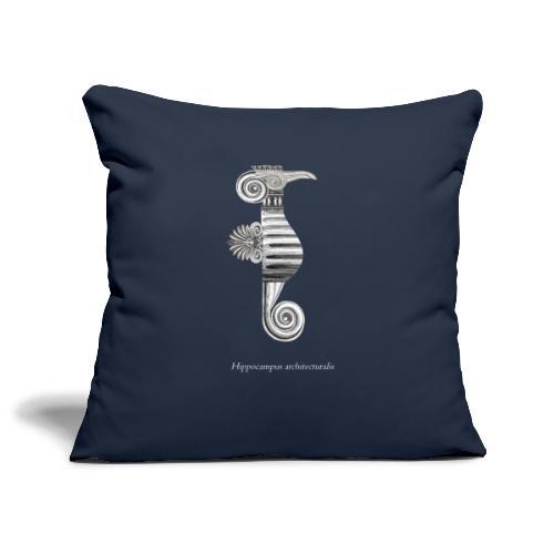 hippocampus architecturalis (épuré) - Housse de coussin décorative 45x 45cm