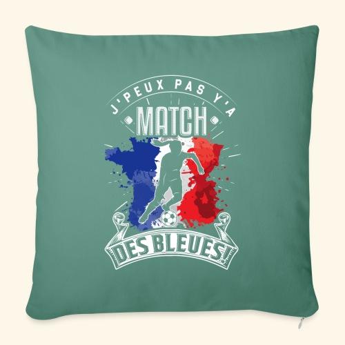 Les Bleues FOOTBALLEUSE - Equipe de France féminin - Housse de coussin décorative 45x 45cm