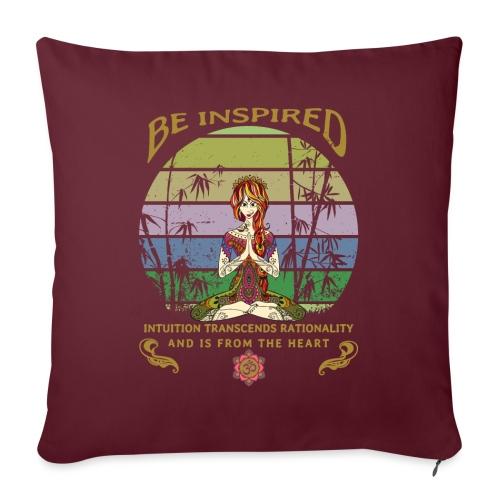 Lass dich inspirieren und folge deiner Intuition - Sofakissenbezug 44 x 44 cm