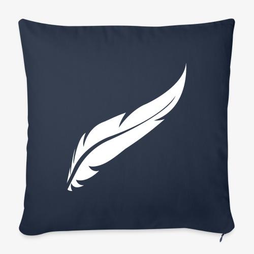 logo plume white - Housse de coussin décorative 45x 45cm