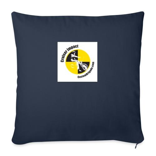badge010 - Housse de coussin décorative 45x 45cm