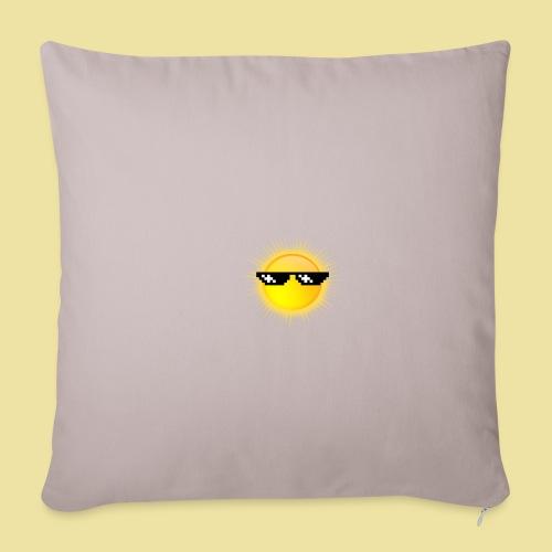coole Sonne mit Sonnenbrille - Sofakissenbezug 44 x 44 cm