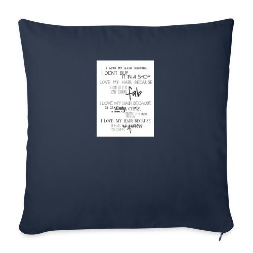 I LOVE MY HAIR - Sofa pillowcase 17,3'' x 17,3'' (45 x 45 cm)