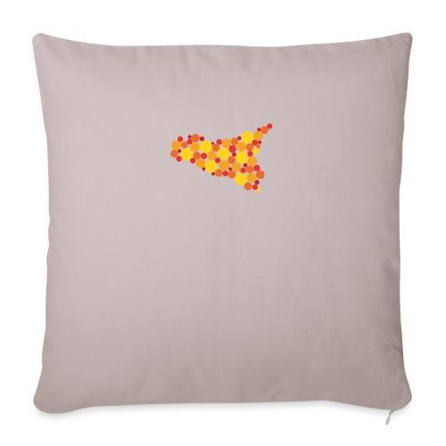logo sicilia piccolo - Copricuscino per divano, 45 x 45 cm