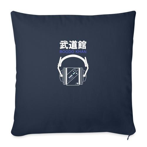 Boodo Khan walkman with headhones & Title - Sofa pillowcase 17,3'' x 17,3'' (45 x 45 cm)
