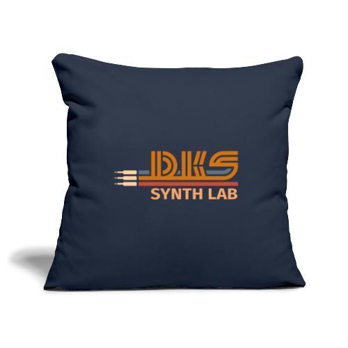 DKS SYNTH LAB Flat Orange-Orange - Copricuscino per divano, 45 x 45 cm