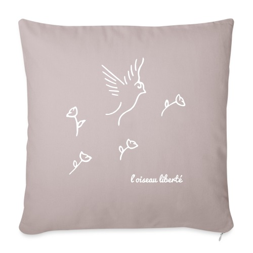 L'oiseau liberté (version light) - Housse de coussin décorative 45x 45cm