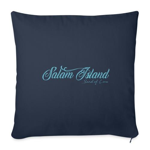 Salam Island calli bleu - Housse de coussin décorative 45x 45cm